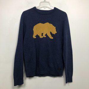 Lucky Brand California Bear Blue Sweater Pullover